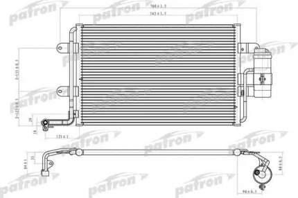 Радиатор кондиционера автомобильный PATRON PRS1069