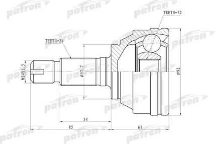Шрус PATRON PCV6893