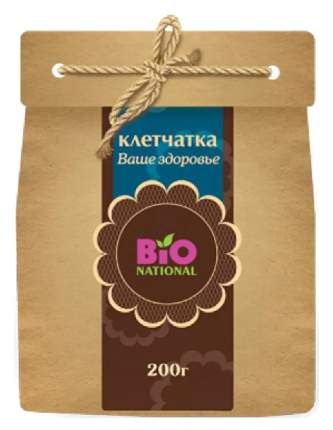 Клетчатка Bio National ваше здоровье в эко-упаковке 200 г