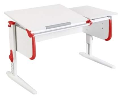 Парта Дэми White Double СУТ-25 С раздельной столешницей Белый/Красный