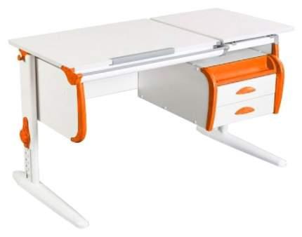 Парта Дэми White Double СУТ 25-03 Белый/Оранжевый
