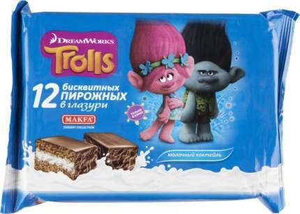 Пирожное бисквитное dreamworks Trolls молочный коктейль 18 г 12 штук
