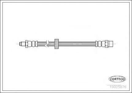 Шланг тормозной Corteco 19025876