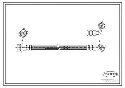 Шланг тормозной Corteco 19033086