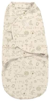 Конверт для пеленания на липучке SwaddleMe Summer Infant Organic Кремовый с кроликами