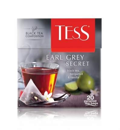 Чай черный Tess в пирамидках бергамот earl gray secret 20 пакетиков