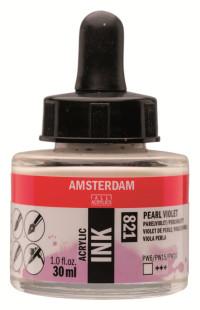 Акриловые чернила Royal Talens Amsterdam №821 фиолетовый жемчужный 30 мл