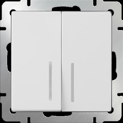 Выключатель Werkel WL01-SW-2G-LED белый