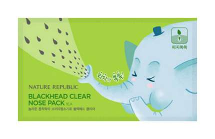 Патчи для очищения кожи Nature Republic Blackhead Clear Nose Pack 1 шт