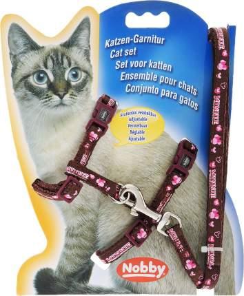Шлейка для кошек Nobby Minni, универсальная, цвет: бордовый