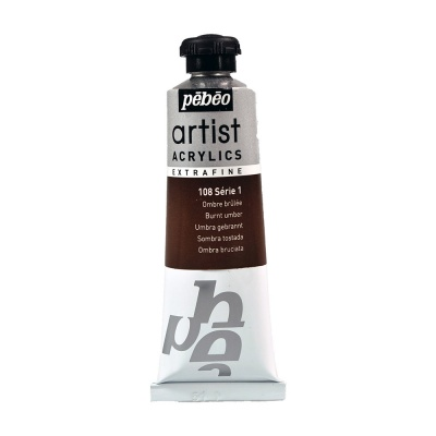 Акриловая краска Pebeo Artist Acrylics extra fine №1 умбра жженая 37 мл
