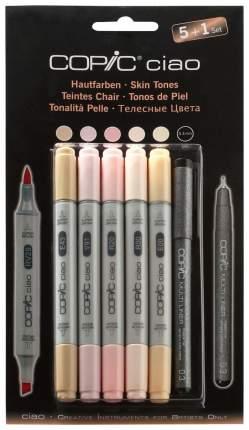 Набор двухсторонних маркеров Copic «Ciao. Телесные цвета» 5 цветов + 1 мультилинер 0,3 мм