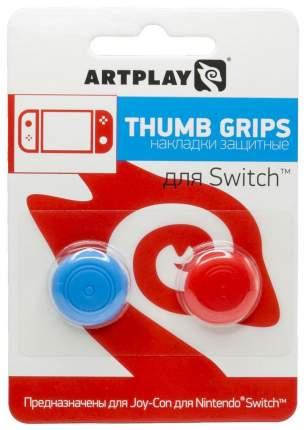 Накладки Artplays Сменные Thumb Grips для контроллера NS (красные/синие, 2 шт)