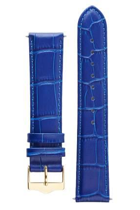 Ремешок для часов из кожи Signature 111600 синий 20 mm short