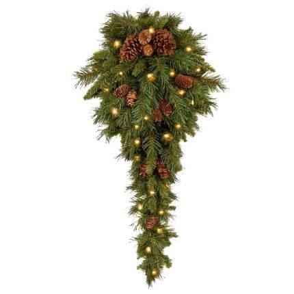 Настенный декорNational Tree Company Капля Еловая 91 см, 50 теплых белых LED ПВХ 31PC3TDL