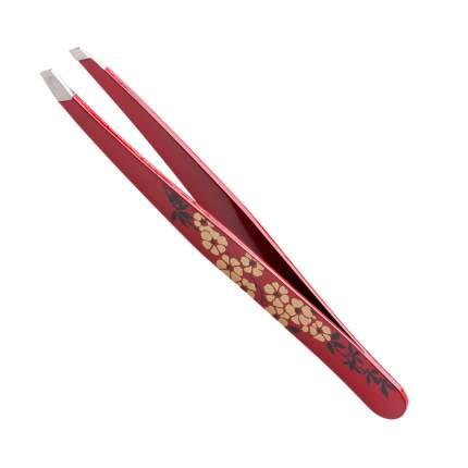 Пинцет для бровей Solinberg 2238, цветной, наклонное окончание с четкими гранями