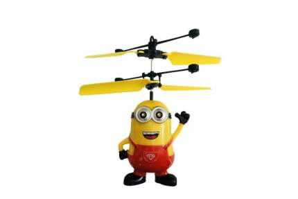 Радиоуправляемый летающий миньон Дэйв CS Toys со светящимися глазами 388A