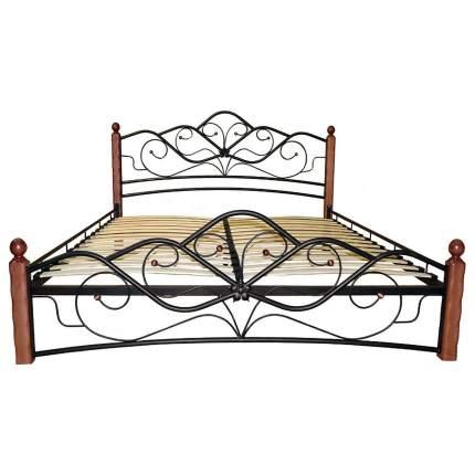Кровать двуспальная Форвард Венера 1 160х200 см, коричневый/черный