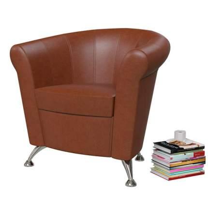 Банкетка 6-5116 Лагуна, коричневая искусственная кожа (коричневый БАШ), ШхГхВ 78х63х79 см