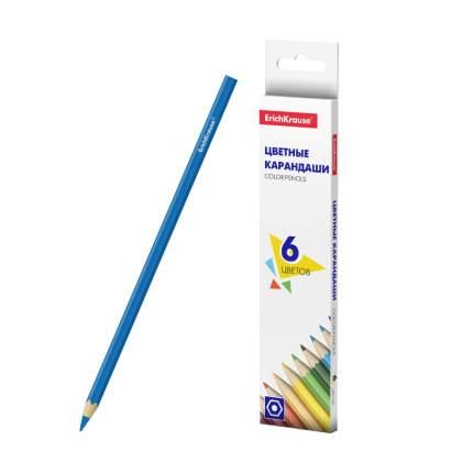 Цветные карандаши ErichKrause шестигранные Basic 6 цветов