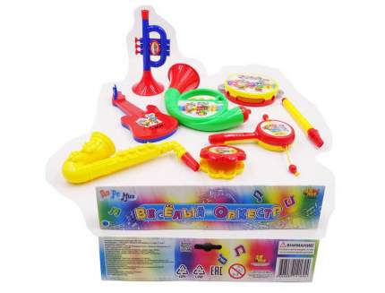 Набор музыкальных инструментов Веселый оркестр для малышей (8 предметов) в пакете