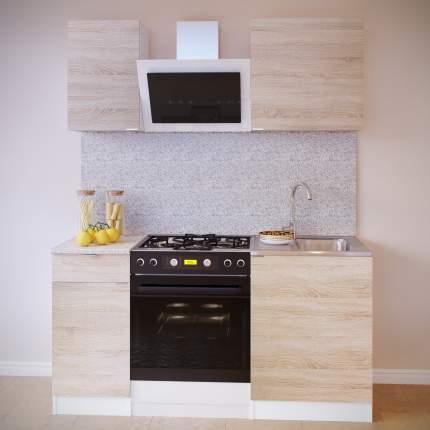 Прямой кухонный гарнитур Сокол ПН-04+ТК-04.1+ПН-06+ТК-06м Белый / Дуб сонома