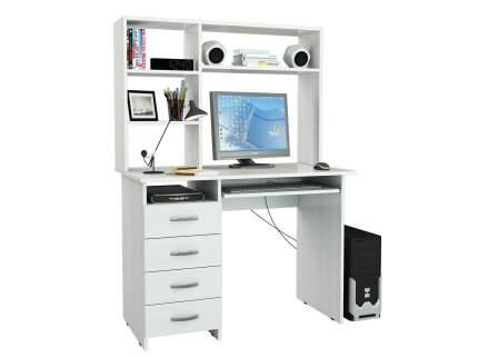 Компьютерный стол MFMaster Милан-3 Милан-3 с надстройкой, белый