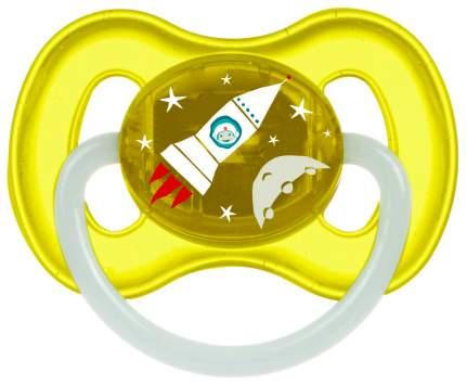 Пустышка круглая Canpol Space латекс 0-6 мес. арт. 23/221 цвет желтый