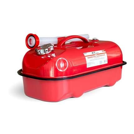 Канистра AVS HJM-10 топливная металлическая красная 10 л горизонтальная