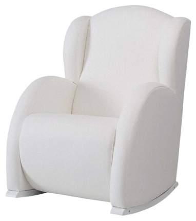 Кресло-качалка Micuna (Микуна) Wing/Flor white/white искусственная кожа