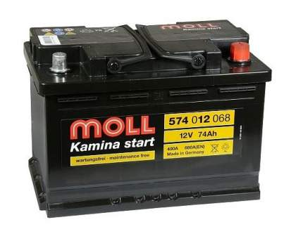 Аккумулятор MOLL Kamina Start 74R 680A 276x175x190 574012068