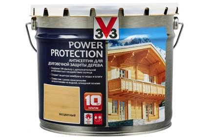 V33 Power Protection антисептик для долговечной защиты дерева 9 л, Цвет бесцветный
