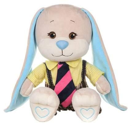 Мягкая игрушка Jack&Lin Зайка Жак в желтой рубашке и полосатом галстуке 25 см