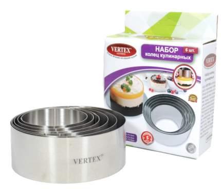 Набор форм для выпечки и выкладки круглые 6 шт Vertex TDKVS-1799