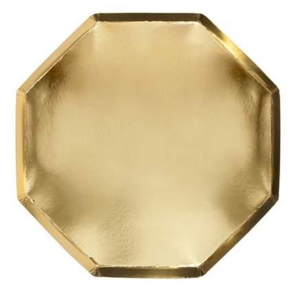Тарелки золотые Meri Meri Basic большие