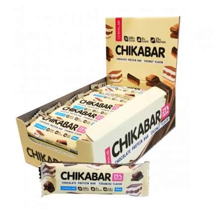 Батончик глазированный с начинкой Bombbar CHIKALAB Chikabar, упаковка 20 шт по 60 г