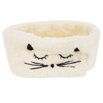 """Ободок на голову Kawaii Factory """"Спящий котик"""", молочный"""