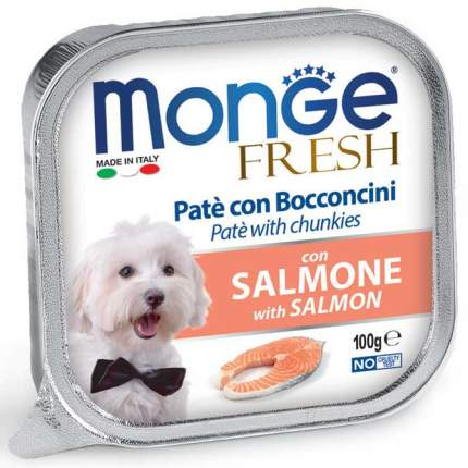 Консервы для собак Monge Fresh, паштет с лососем, 100г