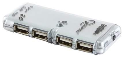 USB-концентратор Gembird UHB-C244 4 порта Af*2,0 с блоком питания