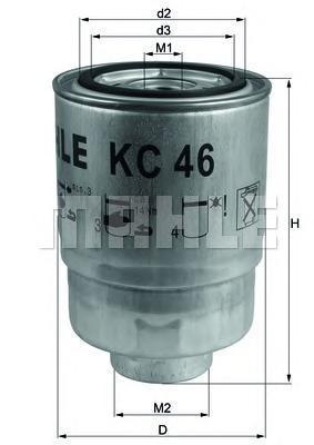 Фильтр топливный Mahle/Knecht KC46