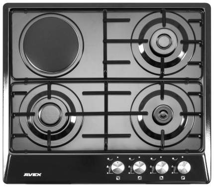 Встраиваемая варочная панель комбинированная AVEX NS 6030 B Black