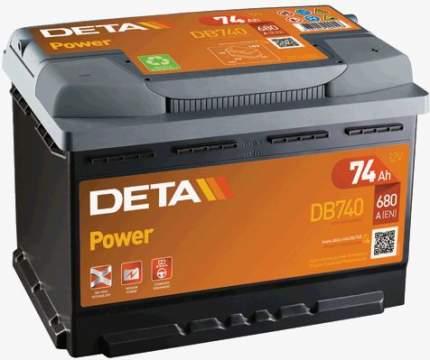 Аккумулятор автомобильный DETA DB740 74 Ач