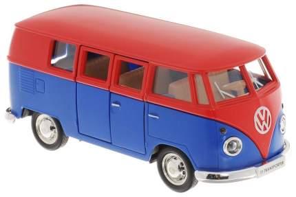 Автобус металлический Rmz City Volkswagen Type 2 Transporter красный/синий 1:32