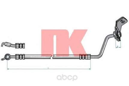 Шланг тормозной системы Nk 853485 задний левый