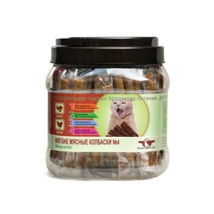 Лакомство для кошек GreenQZin, мягкие мясные колбаски, кролик и курица, 650г