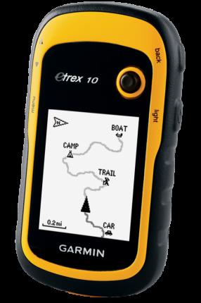 Туристический навигатор Garmin eTrex 10 черный/желтый