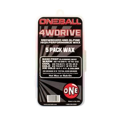 Парафин Oneball 4Wd 5 Pack 0C/-20C 225 г