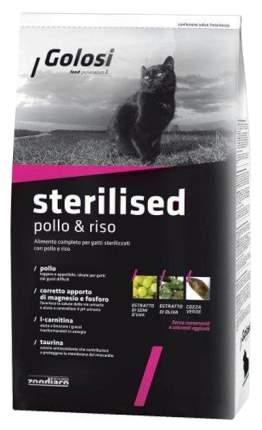 Сухой корм для кошек Golosi Sterilised, для стерилизованных, курица и рис, 1,5кг