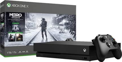 Игровая приставка Microsoft Xbox One X 1Tb Black + Игра Metro Exodus
