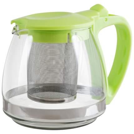 Чайник заварочный стекл 0,9л с фильтром зелен TM Appetite